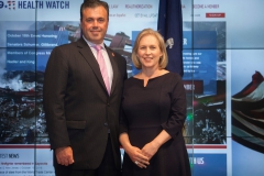 James Slevin, 911 Health Board Member, President Uniformed Firefighters Association and 1st District VP of the International Association of Firefighters with Senator Gillibrand