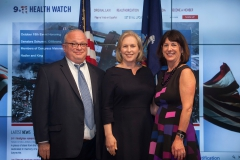 Senator Gillibrand and 911 Health Watch Executive Director Benjamin Chevat and Board Member Suzy Ballantyne