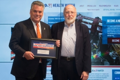 Dr. James Melius, 911 Health Board Member and Administrator, NYS Laborers Health and Safety Trust introduced Congressman Peter King (R-NY)