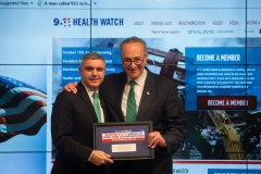 New York State AFL-CIO President Mario Cilento, and Senator Charles Schumer (D-NY)