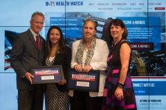 911 Health Watch Board member Suzy Ballantyne introduced Manhattan Borough President Gale Brewer and Elizabeth de Leon Bhargava, NYS Deputy Secretary in the Office of Governor Andrew M. Cuomo.